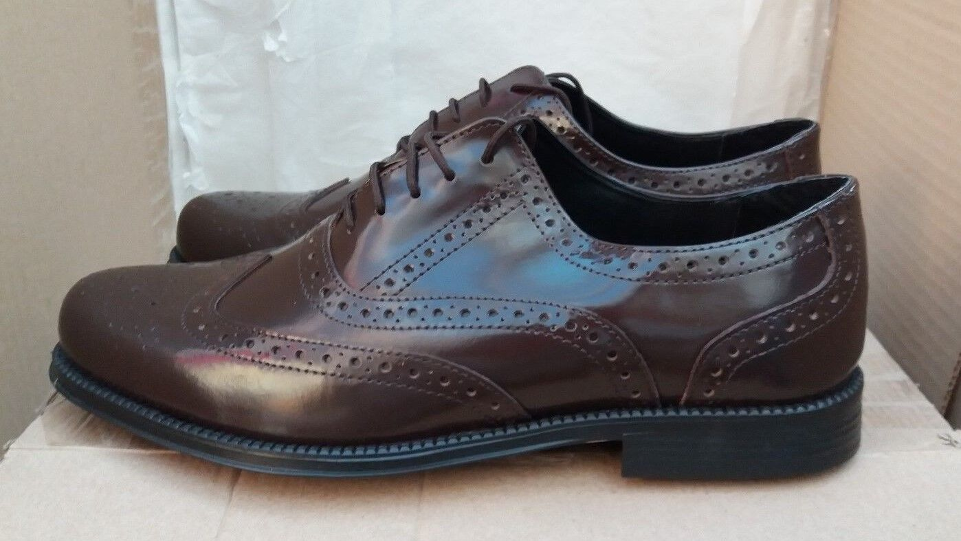 Clifford James Braun Brogues - Genuine Leder Lace Up Größe UK 9.5