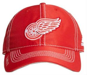 innovative design 51b2e 28f5e Image is loading Adidas-NHL-Hockey-Detroit-Red-Wings-Cap-Hat-