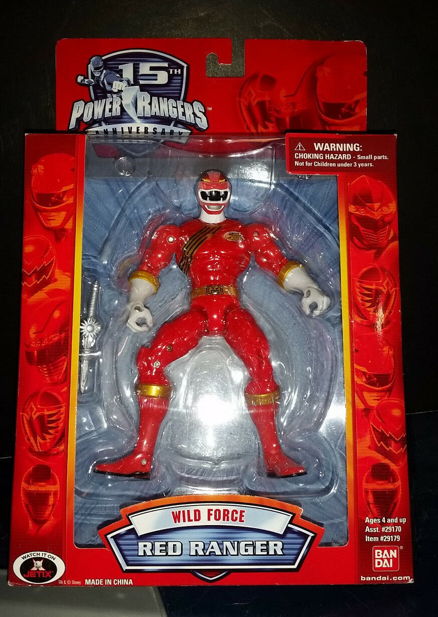 Power Rangers rosso WILD FORCE Figure LEGENDS Sentai tokusatsu GAaranciaRS Legacy