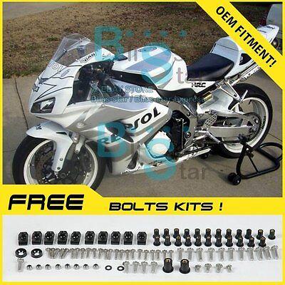 White Glossy INJECTION Fairing Kit Fit Honda CBR1000RR 2006-2007 103 A6 |  eBay