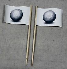 Party-Picker Golfball Golf 50 St Dekopicker Profiqualität Käsepicker Flagge Food