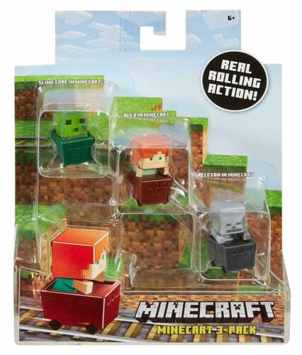 Alex Skeleton Figure 3 Pack Standard Minecraft Slime Cube
