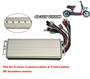 DC 48V-72V Electric Bicycle E-bike Scooter Brushless Motor Speed Controller NEW