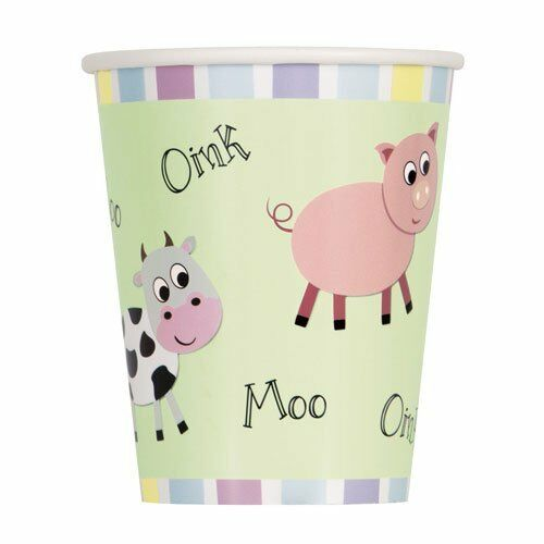 Pastel Farm Party Supplies cups plates banners table cover farm napkins
