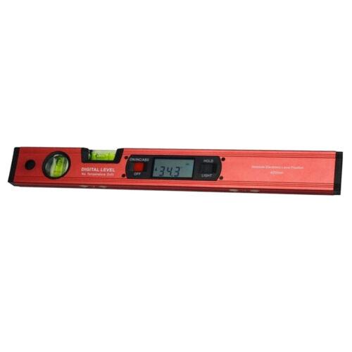 Digital Level Neigungsmesser Winkelsucher Wasserwaage mit Magnetfuß Rot