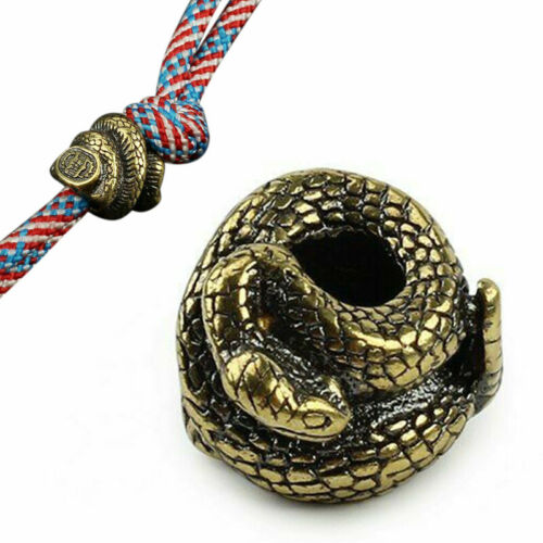 Twisted Snake Brass Beads Umbrella Rope Diy Edc Lanyard Paracord Accessories