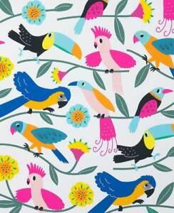 Alexander Henry Folklorico Las Plumas Tropical Birds Cotton Fabric Natural 8858A