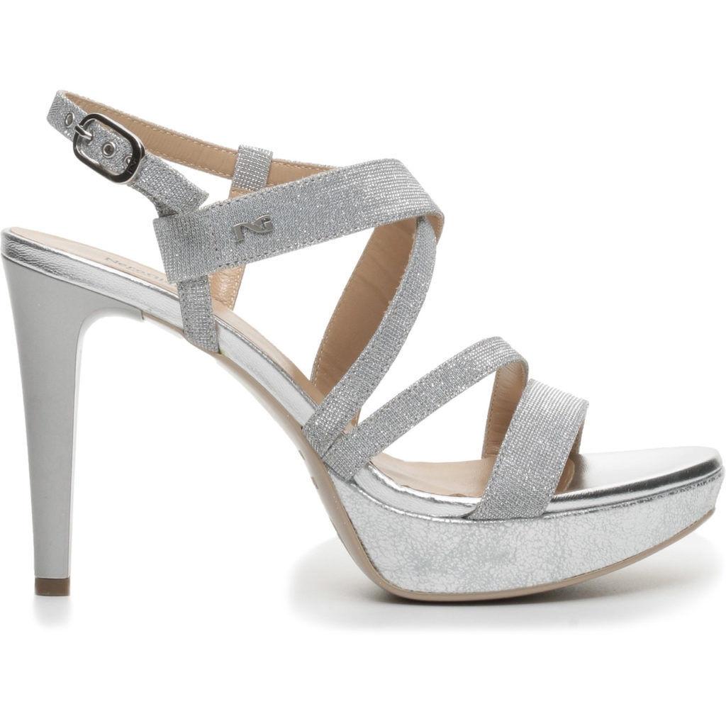 Sandalo donna NERGIARDINI P717890DE NUOVA COLLEZIONE TACCO pelle e PLATEAU  vera pelle TACCO 0af2a1