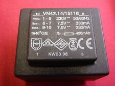 PRINT-TRAFO 2x7,5V 2x333mA  ABMESSUNGEN ca. 44x37x32mm TRANSFORMATOR   24740