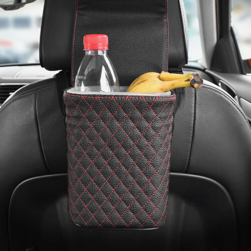 Car Trash Can Garbage Holder Rubbish Storage Box Dust Dustbin Holder Container
