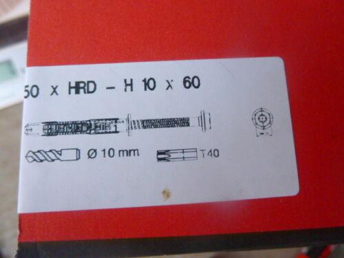 Hilti Schrauben Dübel  50x HRD-H 10x60