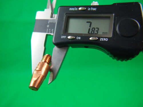 50 Pcs Bobthewelder M8 BINZEL Style Mig Tip 0.9mm x 10mm dia x 30mm long