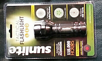 2 Pack Sunlite 51003-SU AAA Tactical Flash Light with Red Laser Water Resistant