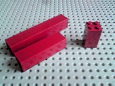 x 10 RDJ49 Brick 2 x 2 x 3 30145 LEGO RED