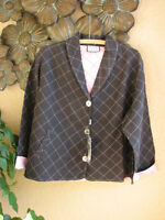 Cottage Clothing Quilted Linen/silk Shawl Collar Swing Jacket - M, L, Xl -