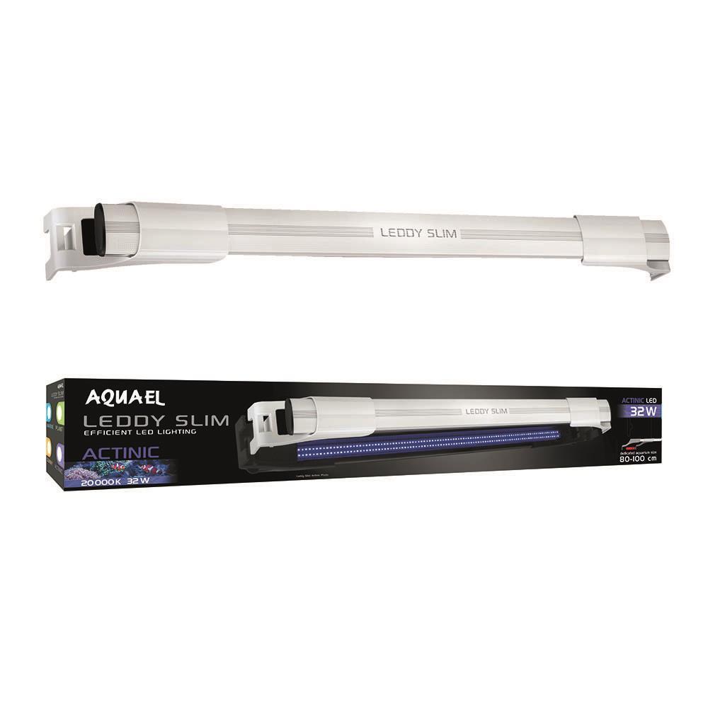 32 32 32  - 40  LEDDY SLIM bianca GLASS AQUARIUM LED ACTINIC (20000K) 32 WATT - AQUA EL 0742de