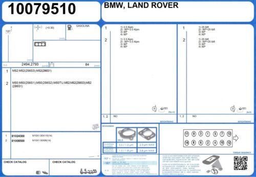 9//1995-8//1998 Full Engine Rebuild Gasket Set BMW 328i 24V 2.8 193 M52 286S1