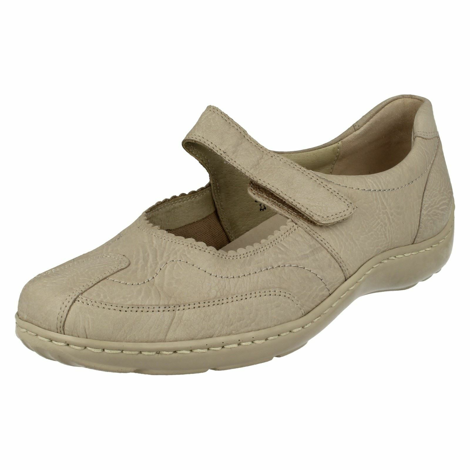 Mesdames waldlaufer casual mary jane style flat chaussures 496302