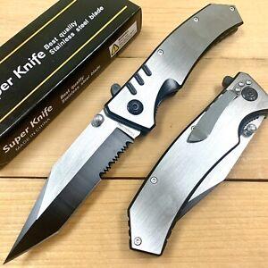 "8.75""Tanto Tactical Survival Spring Assisted Open EDC Blade Folding Pocket Knife"