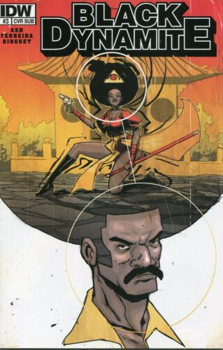 IDW PUBLISHING BLACK DYNAMITE #3 RILEY RESSME SUBSCRIPTION COVER