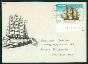 Belgique Enveloppe Peinte!!! 1977 Voilier Ship Pièce Unique!!! Unique!!! El65-afficher Le Titre D'origine Un Enrichit Et Nutritif Pour Le Foie Et Les Rein