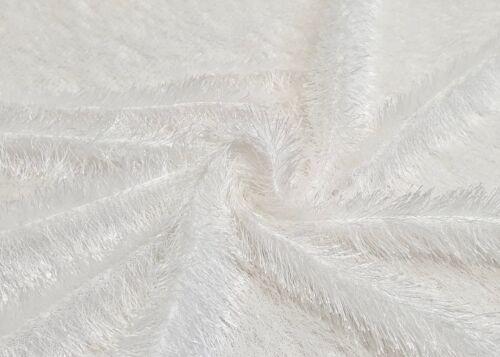 Zottel Stoff Weiß Karneval Fasching Kostüme Dekostoff Bekleidungsstoff Pullover