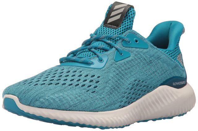 94a68201d9d55 adidas Alphabounce EM M Mesh Blue Men Running Training Shoes BY3846 ...