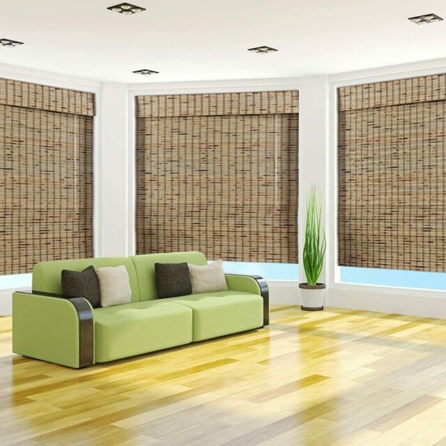 Arlo Blinds Bamboo Roman Shade In Indian Ginger 57 W X 74 H For Sale Online Ebay