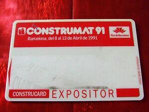 TRES-RARE-CARTE-DE-SALON-CONSTRUMAT-BARCELONE-1991
