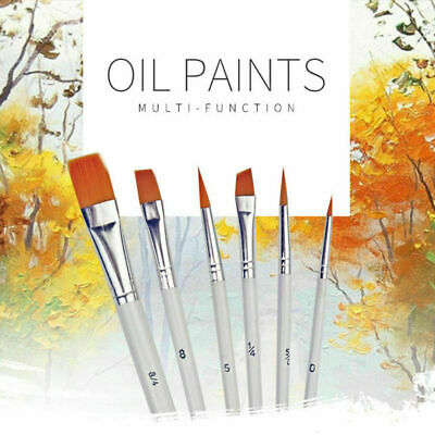 6Pcs Art Painting Brushes Set Acrylic Oil Watercolor Artist Paint Brush Set