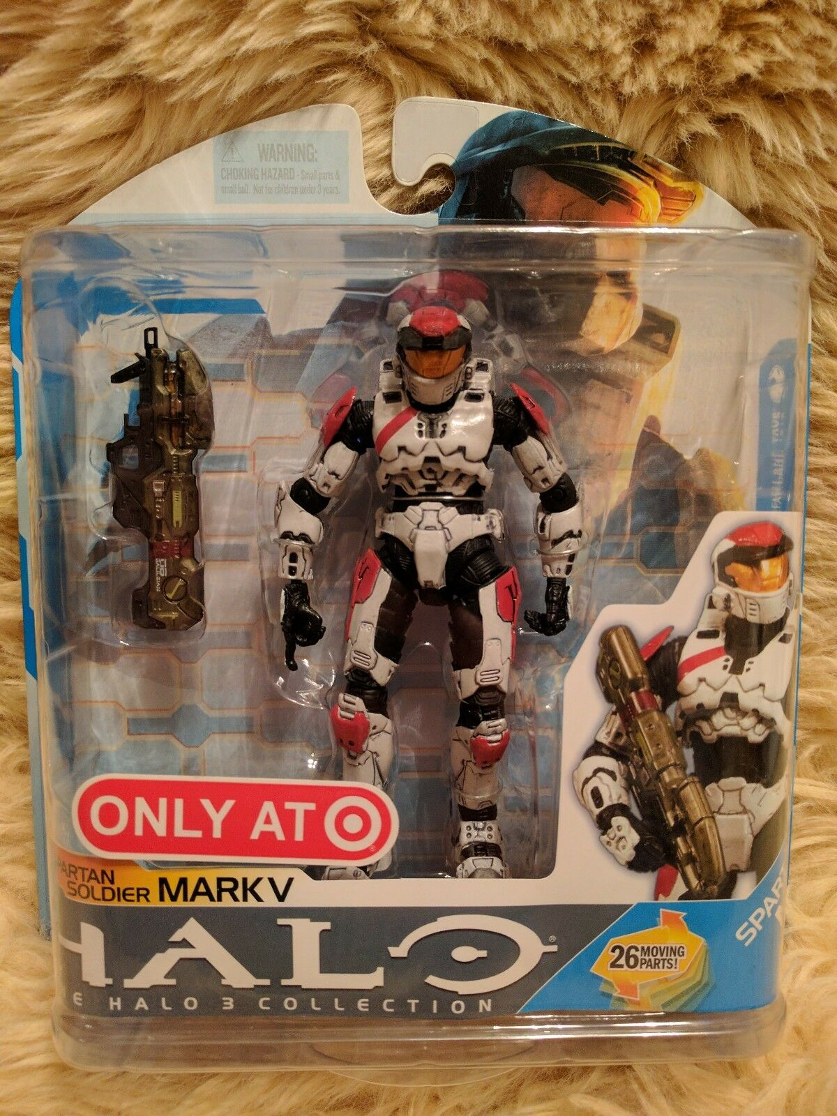 McFarlane Halo Target Exclusive White and Red Spartan Mark IV Figure  NIB - MINT