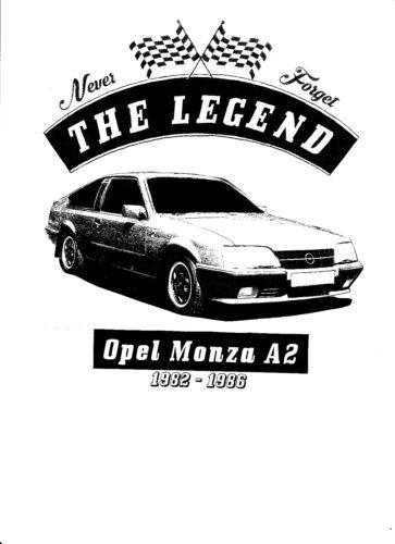 Opel Monza T-Shirt Youngtimer,Oldtimer