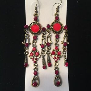 Nwt ruby red crystal bronze vintage dream catcher chandelier image is loading nwt ruby red crystal bronze vintage dream catcher aloadofball Image collections