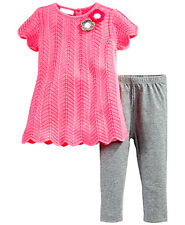 fe4942576a First Impressions Baby Girls 2 Piece Sweater dress Leggings set 3-6M 12M NEW