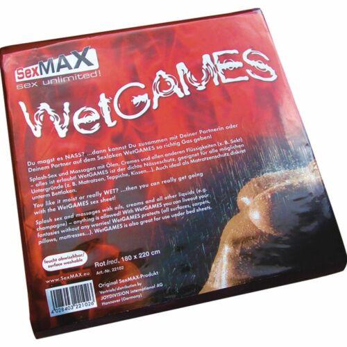SexMAX WetGAMES LACK LATEX PVC Laken Bettlaken Spielwiese Schwarz Weiß Rot