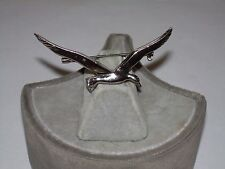 Vintage Silvertone Flying Bird Brooch
