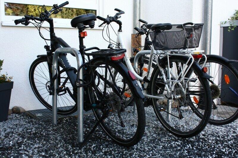 Vélo Support anlehn Cintres Barrière PLOTS Poteaux Bike Park anlehnparker