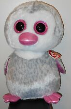 """Ty 16"""" LARGE / JUMBO Beanie Boos ~ OLIVE  the Penguin ~ Claires Exclusive ~ NEW"""
