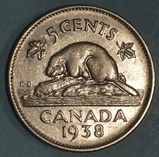 1938 - Pointed 3 Variety - Canada Nickel