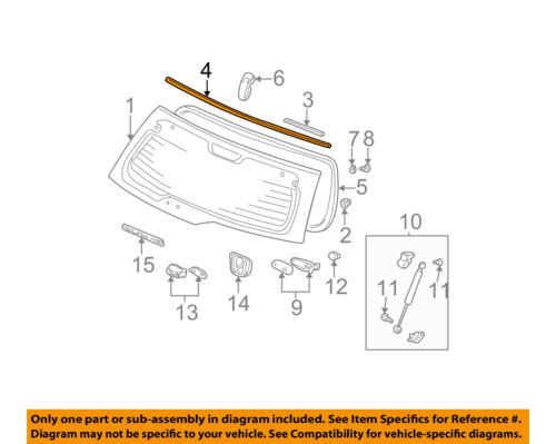 HONDA OEM 02-06 CR-V Back Door-Molding Trim 73250S9A003