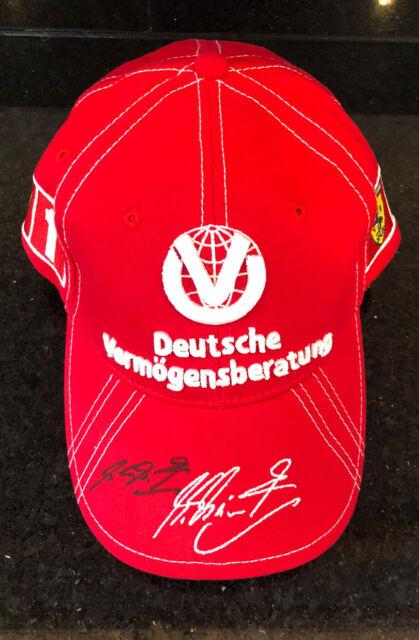 Michael Schumacher Personally Signed 6 Time World Champ Special Ferrari Cap NEW