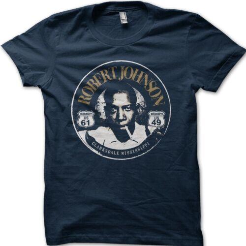 Details about  /Robert Johnson Best Ever Blues Guitar Crossroads devil printed t-shirt 9094
