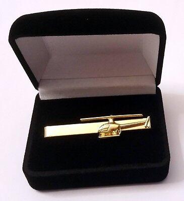 100% Vero Pince Ou épingle à Cravate Hélicoptère Robinson R22 Dorée à L'or Fin 22k Tiebar
