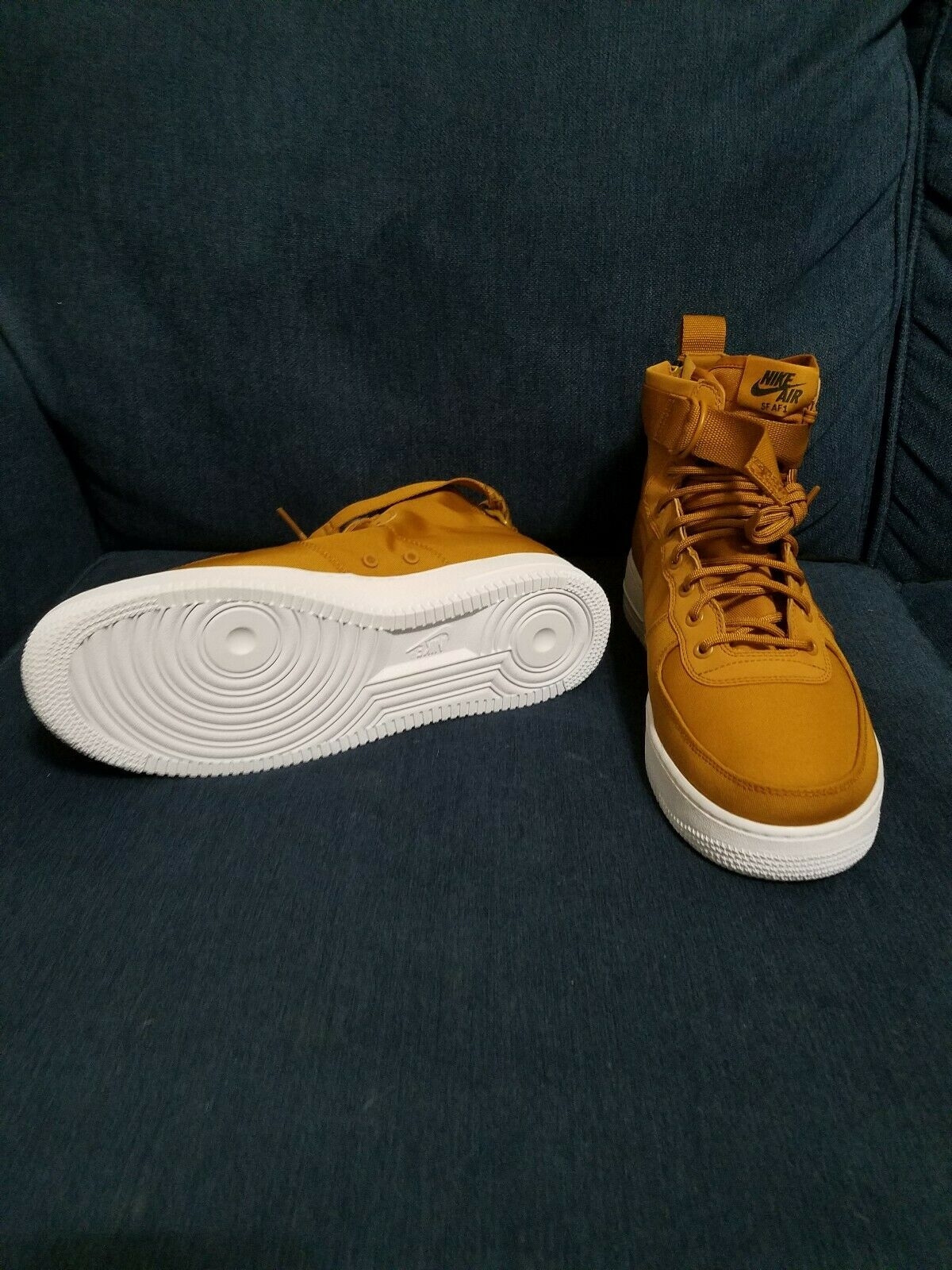 NEW Nike SF AF1 Mid Air Force Desert Ochre White Canvas Leather 917753-700 SZ 13