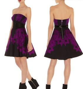 exquisite karen millen 12 uk lace print corset tutu fit