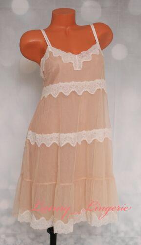 Details about  /M Medium VS VICTORIA/'S SECRET Lingerie Lined Babydoll Dress Lace Ivory Nude