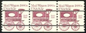1903a-9-3c-Mail-Wagon-Prec-Plate-8-VF-NH-Strip-of-3