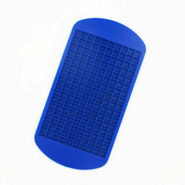 160 Silicone Mini Ice Cube Tray Frozen Cube Molds Mould Kitchen Bar Tool 3 Color