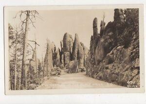 Among-The-Needles-In-The-Black-Hills-South-Dakota-Vintage-RP-Postcard-USA-647a