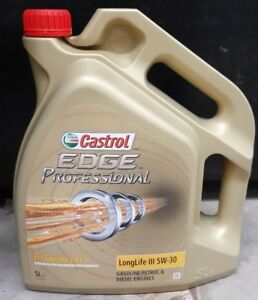 castrol edge professional 5w30 longlife iii 5 litre bottle deal price ebay. Black Bedroom Furniture Sets. Home Design Ideas